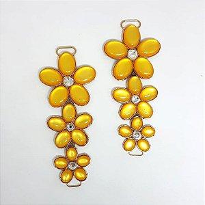 Cabedal I - 3 Flores (Amarelo)
