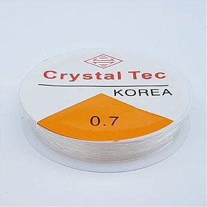 Fio Silicone Crystal Tec 0.7mm 10m (Transparente)