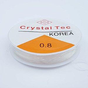 Fio Silicone Crystal Tec 0.8mm 10m (Transparente)