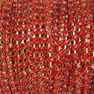 Fio Strass ss16 1m (Vermelho)