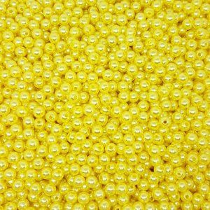 Pérola Inteira ABS 8mm 100g (Amarelo)