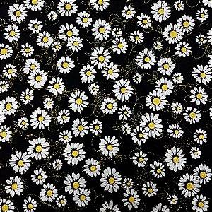 Lonita Tecido - Margarida (Branco)