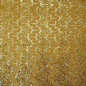 Lonita Tecido - Rendada Ondas (Dourado)