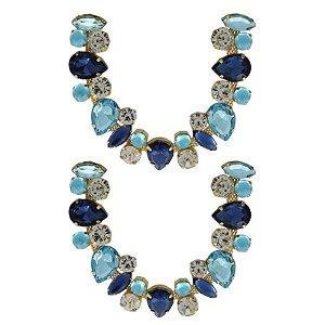 Cabedal Luxo V - Amizade Mesclado (Azul Marinho e Azul Oceano)