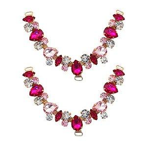 Cabedal V - Amizade Mesclado (Pink e Rosa)
