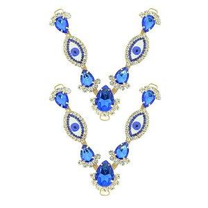 Cabedal V - Olho Grego (Azul Royal)