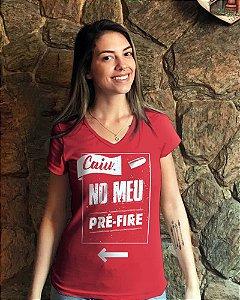 Camiseta Pré Fire (vermelha)