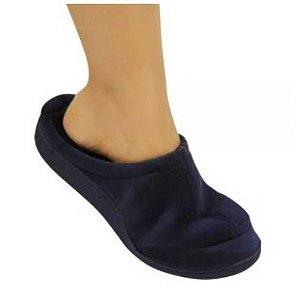 Pantufa ortopédica viscopauher – preta -  as mais confortáveis do mundo - ortho pauher - ref.: ac023