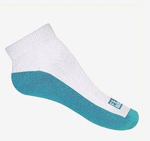 Meia sapatilha antibolhas tradicional - pés diabéticos - feet spa