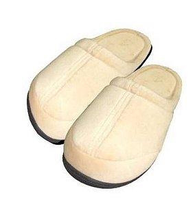 Pantufa ortopédica viscopauher – bege -  as mais confortáveis do mundo - ortho pauher - ref.: ac021