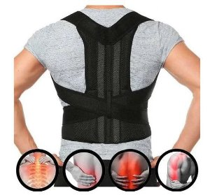 Cinta colete corretor postural / coluna lombar reforçada - tamanho p