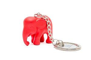 Chaveiro Elefante Vermelho de Silicone