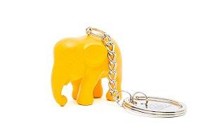 Chaveiro Elefante Amarelo de Silicone