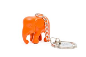 Chaveiro Elefante Laranja de Silicone