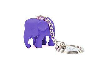 Chaveiro Elefante Roxo de Silicone