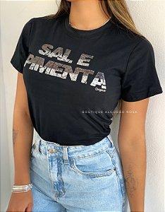 T-shirt Sal e Pimenta Preta