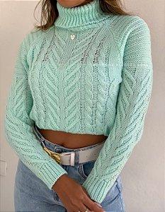 Blusa Gola Verde-água