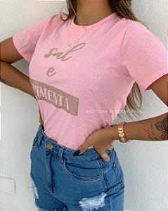 T-shirt Ayla Sal e Pimenta