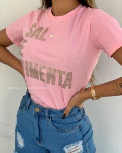T-shirt Vany Sal e Pimenta