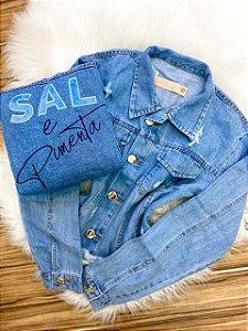 Jaqueta Jeans Sal e Pimenta