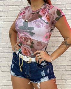 Body Tule Flores