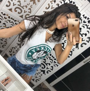T-shirt Mickey Coffee Branca