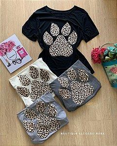 T-shirt patinha animal print