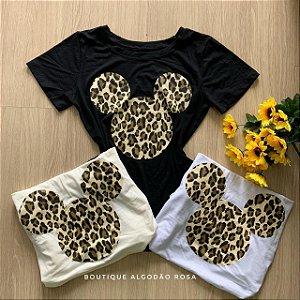 T-shirt mickey onça