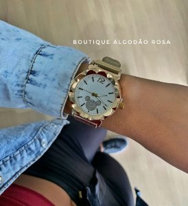 Relógio Mickey Dourado