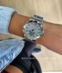 Relógio Mickey Prata