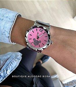 Relógio Mickey Rosa  