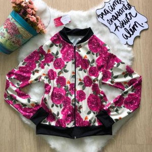 Bomber Flor rosa