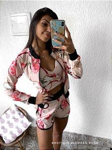 Conjunto Rosa Flores