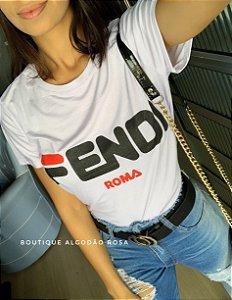 T-shirt Fend Branca