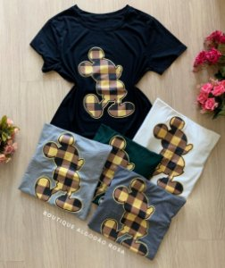 T-shirt Mickey Xadrez