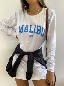 Camisão Malibu Branca Azul