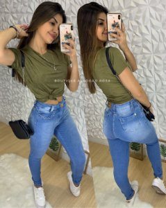Calça Jeans Trança