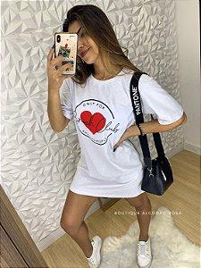 Camisão Branco Coração