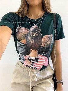T-shirt Mãe de Meninas |