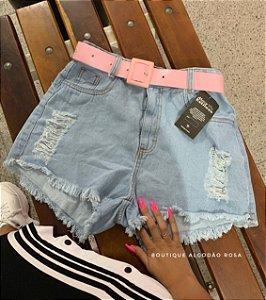 Short Cinto Rosa