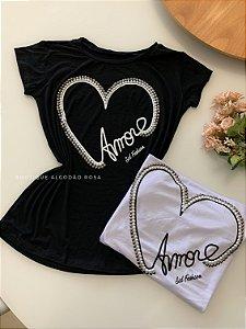 T-shirt Amor Preta