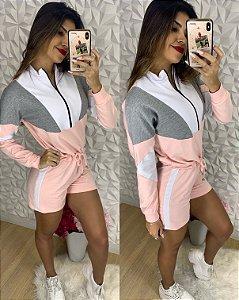Macaquinho Sofia Rosa