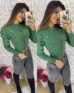 Casaquinho Botões Verde