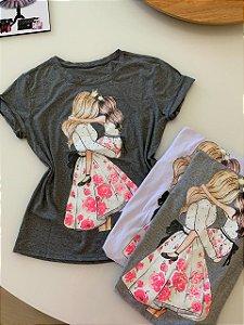 T-shirt Mãe Menina
