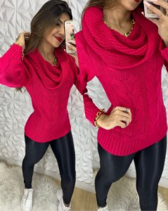 Blusa Cachecol Pink