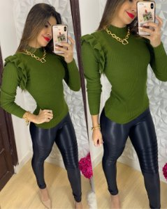 Blusa Babadinho Verde