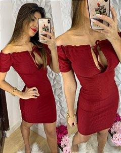 Vestido Ombro Vermelho