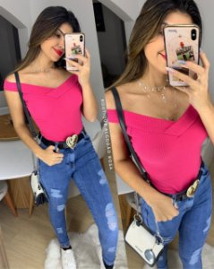 Blusinha Canoa Pink