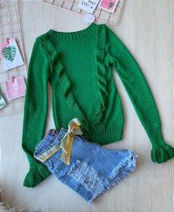 Blusa Brilho Verde