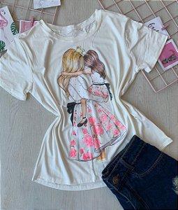 T-shirt Mãe De Menina